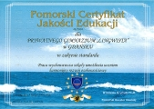 Pomorski Certyfikat Jakoci Edukacji